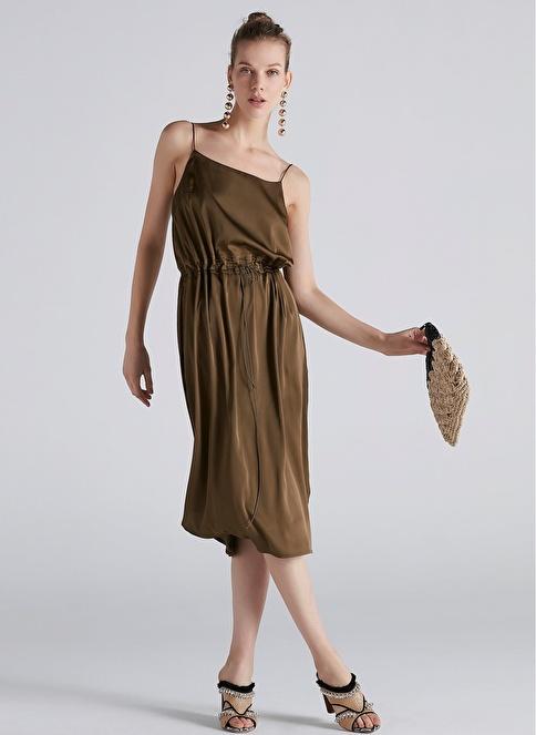 e9a39f6c614af Ipekyol Kadın Çift Şerit Lastik Belli Askılı Elbise Hakı | Morhipo |  21240497